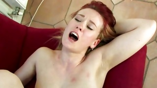 Topless lascivious chick is screaming while fucked brutally