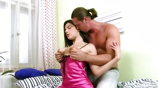 Lovely beautiful gal is groaning nice during the copulation