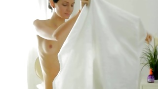 Sexually hungered bitch gets her breasts massaged on porn