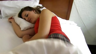 Cute teen porn perform of the sleeping young sweetie