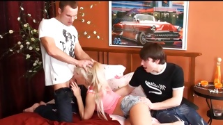 X-rated teen porn where is done the horny threesome