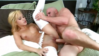 Bald guy is ready to get his huge cock sucked on rough