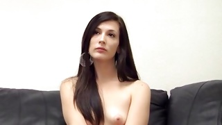 Hotie babe sitting there topless ready to fuck hard