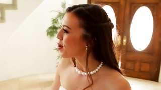 Sexually hot young bride with hottie