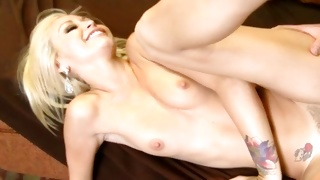 Lascivious man is talking to horny young beauty