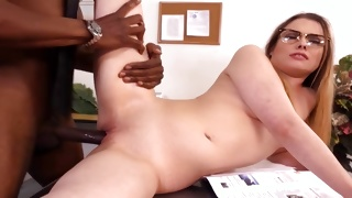 Black dude is seducing unbelievably hot bitch