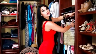 Watch on perfect bitch in amazing short red dress