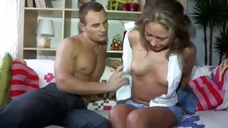 Topless furious slut is sucking kinky hard dick