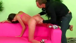Light-haired indecent cum gutter desires to acquire his cock in the little throat