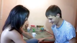 Brown-haired sexually wild bitch is seducing dude for a finest fornication