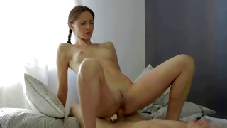 Kinky early beauty is licking this fat very long boner with dirty itch