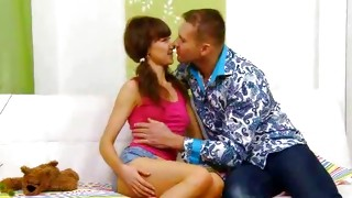 Gawk on sexually flirty and cute hooker is depicting from the doggy fuck