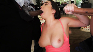 Karlee Grey Takes On Two Monsters