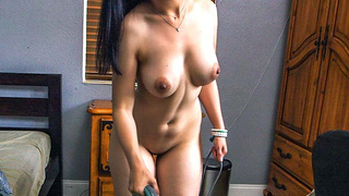 Maid gets sprayed